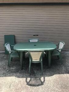 Pvc Outdoor Setting Outdoor Dining Furniture Gumtree Australia