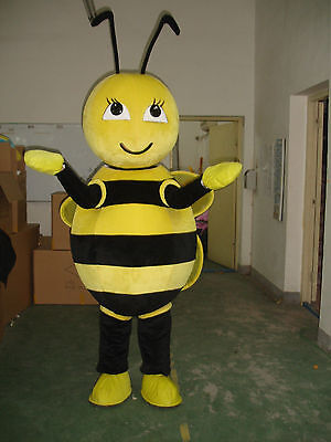 Advertising Bee Mascot Costume Suits Unisex Adults Size Party Game Fancy Dress