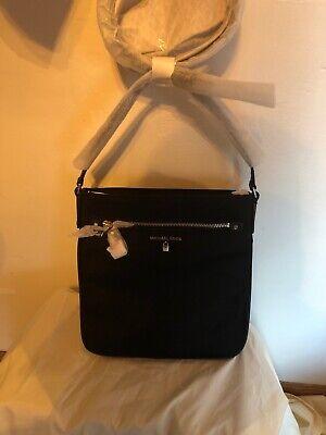 Michael Kors Lg Crossbody Black Nylon Kelsey Handbag $108