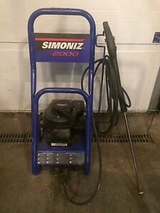 Simoniz S2000 gas pressure washer.