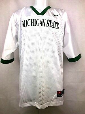Michigan State Spartans NCAA Football Blank Replica Jersey White with Green