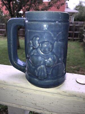 Cobalt Blue Monk Stein/Mug Embossed Stoneware Mug