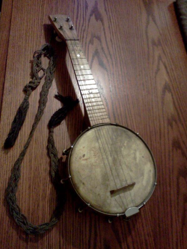 ANTIQUE 4 String Banjo