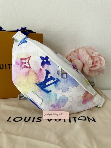 Auth Louis Vuitton Pastel MULTICOLOR WATERCOLOR DISCOVERY BUMBAG Summer 2021