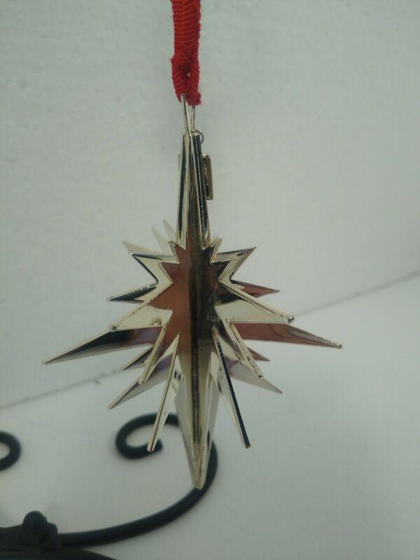 Vera Wang Silver Plated 3-D STAR Christmas Ornament -