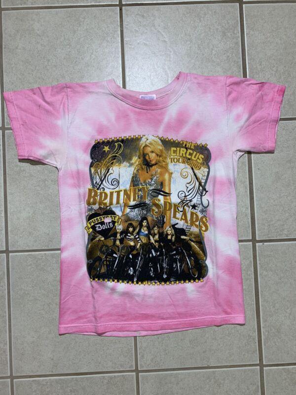 Original Medium Britney Spears Circus Concert Tour T Shirt Official 2009 Vintage