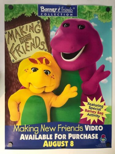 "Barney Making New Friends 24"" X 32"" Original Movie Poster"