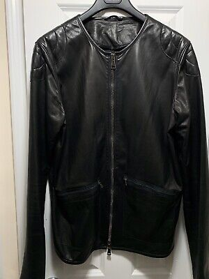Giorgio Brato, Rick Ovens,Diesel Gold Black... Leather Jacket Size 56 XXL