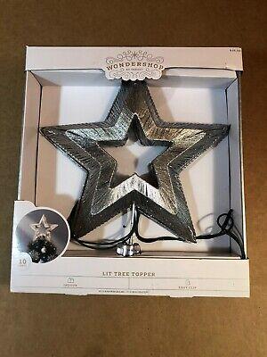 Target Wondershop Lit Silver Star Clear Light Electric Christmas Tree Topper