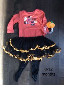 Baby girl 6-12 month First Halloween set