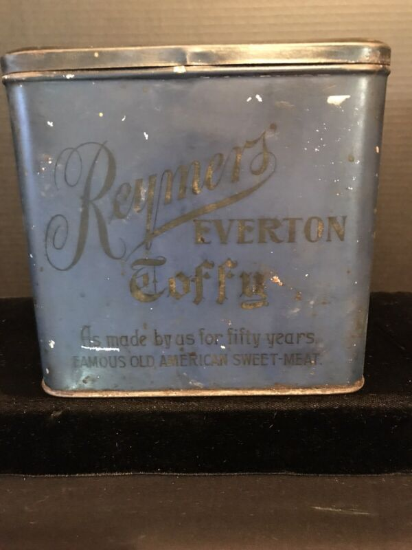 RARE-VINTAGE REYMERS EVERTON TOFFY CANDY TIN- PITTSBURG PA