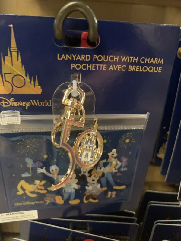 Walt Disney World 50th Anniversary Celebration Lanyard Pouch
