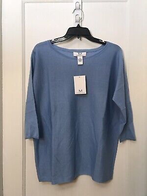 3/4 Sleeve Wool Pullover (MAGASCHONI WOOL BLEND 3/4 SLEEVE PULLOVER SWEATER NWT SIZE S)