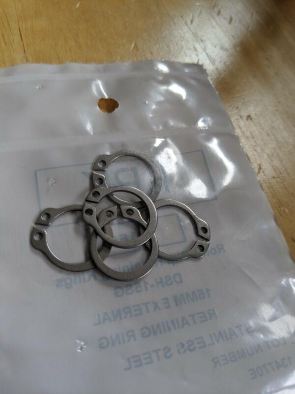 Pack of 5 DSH-15SG Rotor Clip 15mm External Stainless Steel Retaining Ring