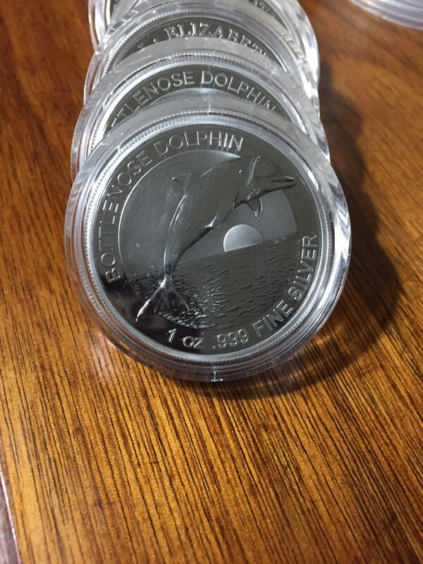 2019 Australia 1 oz Silver $1 Dolphin BU - Sold Out At Mint/Dealers. From Roll.