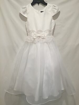 Chantilly Place NWOT Girls sz 10 White Formal Dress Communion Party Flower Girl Girls Communion Shoes