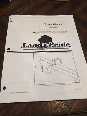Land Pride Rear Blades Rbt1560 Rbt1572 Rbt1584 Operators Manual