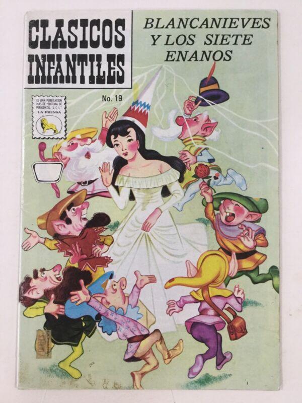 1974 SPANISH COMICS CLASICOS INFANTILES #19 BLANCANIEVES ENANOS LA PRENSA MEXICO