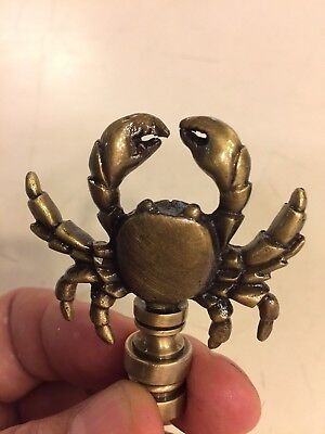 Antique Brass Maryland Crab Finial Lamp Topper Part Decoration NEW - Part Decoration
