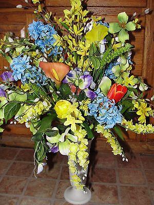 Mothers Valentines Day Urn Vase Spring Sweet Pea Silk Flowers Cemetery Grave](Halloween Graveyard Dessert)