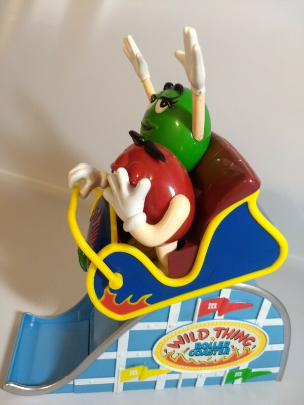 """M&M Wild Thing Roller Coaster Plastic Candy Dispenser 11"""" Tall Mars Inc M and M"""