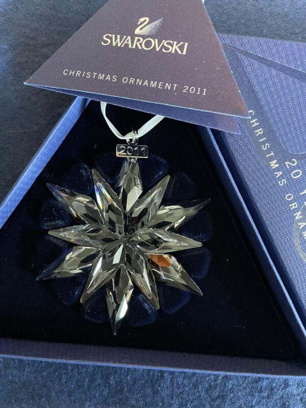 Swarovski Crystal  Christmas Snowflake  Ornament 2011-20 Year Anniversary