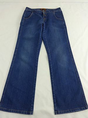 LEE WOMENS MEDIUM WASH ONE TRUE FIT JEANS WITH BUTTON FLY SIZE 7/8