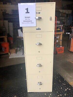 Meilink-hercules Vertical Fireproof Filing Cabinet W Key Powerwall Office