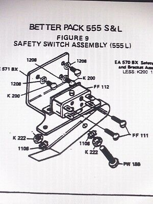 Better Pack 555 Sl Replacement Part Used Safety Switch Assembly