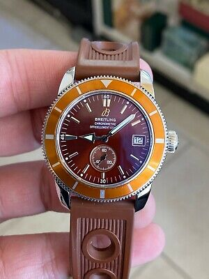 BREITLING Superocean Heritage 38 Automatic Date Watch A37320 BROWN DIAL RARE!