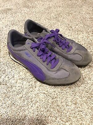 Puma Gray Purple Womens Sneakers Size 7 Eur 37.5 Running Athletic Shoes 35262528