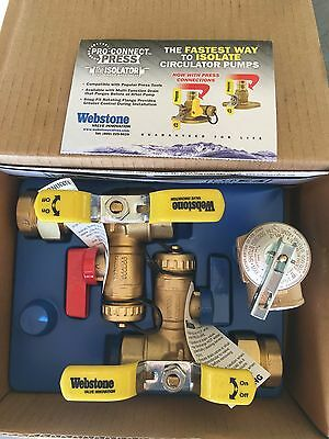"Webstone 44443WPR 3/4"" IPS Isolator EXP E2 Tankless Water Heater Service Valve"