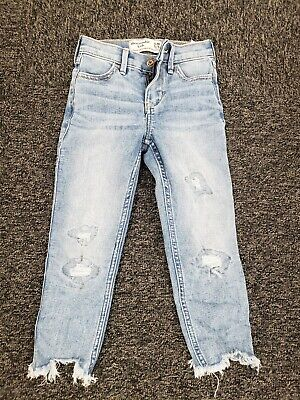 Abercrombie Kids ~ Girls High Rise Ankle Skinny Jeans ~ Size 5-6 Slim