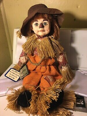 "VINTAGE 1983 FAITH WICK HALLOWEEN/HARVEST SCARECROW DOLL 18"" VGC"