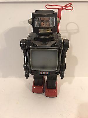 VINTAGE 60'S SPACE EXPLORER ASTRONAUT TELEVISION TV RADAR JAPAN ROBOT BAT OP TOY