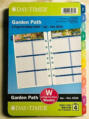 Day-timer Garden Path 2020 Weekly Monthly Planner 8.5x5.5 Refill 4