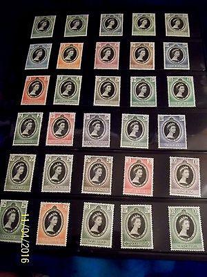 1953 CORONATION QUEEN ELIZABETH II COMPLETE MNH , UMM 106 STAMP OMNIBUS
