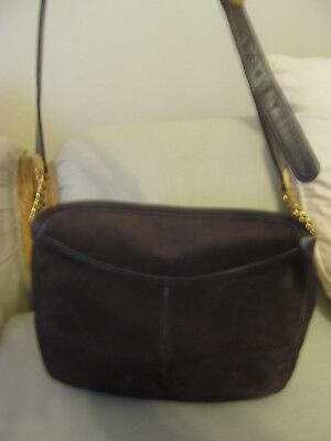 GUCCI BROWN SUEDE HANDBAG- I BOUGHT IN ROME!