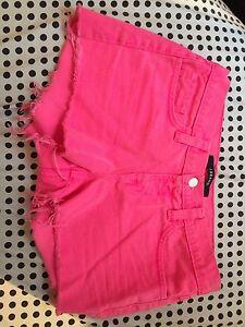 Neon Pink Jbrand Shorts