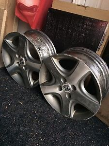 2 OEM 15' 4x100 wheels  Kitchener / Waterloo Kitchener Area image 1