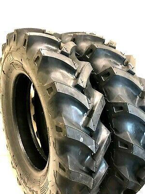 Two 6.50-16 6.50x16 Tires Tubes Heavy Duty 6 Ply R1 Farm Tractor Tires Tubes