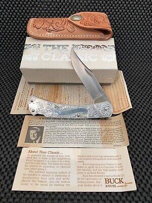 BUCK CLASSIC 111 LOCKBACK KNIFE W/FACTORY ORIGINAL SHEATH, LITERATURE & BOX MINT