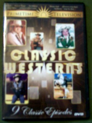 Primetime TV Classic Westerns 9 Episodes (DVD) B&W and Color for sale  Center
