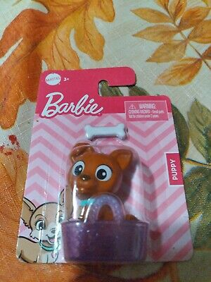 New Mattel BARBIE Pets Puppy With Bone and basket