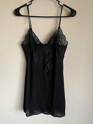 Valentino Slip Dress Vintage Black Size Medium
