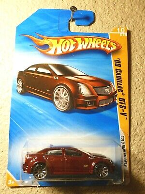 Dark Red Metallic 2010 NEW MODELS Hot Wheels '09 CADILLAC CTS-V #10