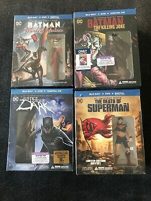 LOT (4) Batman/ DC(Blu-ray/DVD Best Buy EXCLUSIVE +Graphic Novel) Death (Best Superman Graphic Novels)