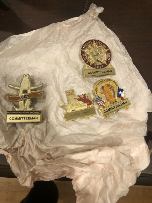 Houston Rodeo Committeeman Badges Lot of 4