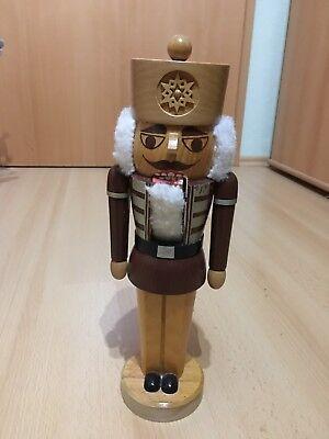 Nussknacker Holz Figur Weihnachtsdekoration Erzgebirge Volkskunst 35 cm ()