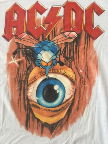 AC/DC 1985 Fly On The Wall Tour Vintage Original Large T-Shirt